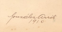 BERNARDO GONZALEZ ARRILI AUTOGRAFO AUTOGRAPH AUTOGRAPHE AÑO 1910 ESCRITOR ARGENTINO ESCRITO EN LA CONTRATAPA INTERNA DE - Autographs