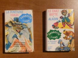 Cassettes Audio Et Livres : 1 - Fables De La Fontaine - 2 - Le Chat Botté - Aladin - Cassettes Audio