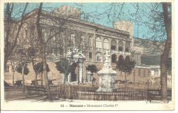 MONACO  --  MONTE CARLO  ---  CPA  --  Monument CHARLES Ier  ( ?..... ) - Palazzo Dei Principi