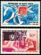 20th Anniversary Of UNESCO & UNICEF, Burkina Faso Stamp SC#173-174 MNH Set - Burkina Faso (1984-...)