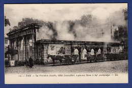 40 DAX Fontaine Chaude ; Calèches, Chevaux - Animée - Dax