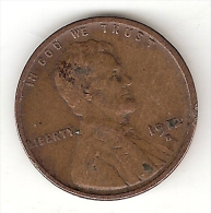 Usa 1 Cent 1912  S  Km 132  Vf - Émissions Fédérales