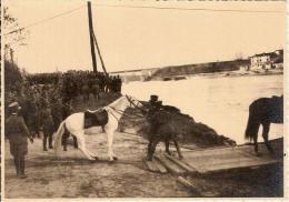 (F).Attraversamento fiume.Prima Guerra Mondiale.Lotto di 4 foto originali (66,67,68,69-a14)