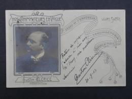 Ref1871 CPA Autographe Austin Clérice Adressée à M. Hanz - 1903 Compositeur En Vogue - Walery - Autographes