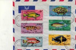 Burundi 1968-Poissons -Oblitération 1er Jour - Fische