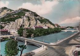 Cp , 38 , GRENOBLE , Le Ponts Sur L'Isère , La Bastille Et Le Rachais - Grenoble