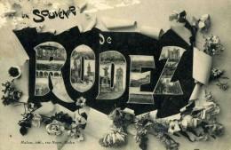 "RODEZ   /  12     ""     /  SOUVENIR DE RODEZ     ""     CPA  9 X 14 - Rodez"