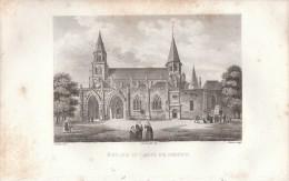 1825 - Gravure Sur Cuivre - Poissy, église Saint-Louis  - FRANCO DE PORT - Estampes & Gravures