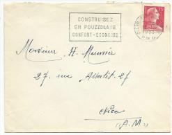 FLAMME DE CLERMONT F. - POUZZOLANE 1955 - Marcophilie (Lettres)
