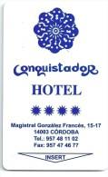 Llave Card Karte Clef Hotelkarte Keycard  HOTEL CONQUISTADOR - Hotel Labels