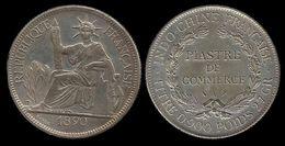 INDOCHINE . FAUSSE PIECE DE 1 PIASTRE . 1890 A . - Colonies