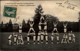 44 - CHATEAUBRIANT - Voltigeurs - Pyramide - Gymnastique - Cercle Catholique D'ouvriers - Châteaubriant