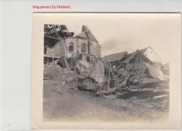 Photo Allemande- IRLES église Village Bombardé  Dép 80(Geurre14-18)2scans - France