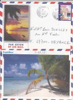Tahiti Island In French Polynesia, Airmail Cover To France, Stamps,   (Z-8415) - Tahiti (1882-1915)