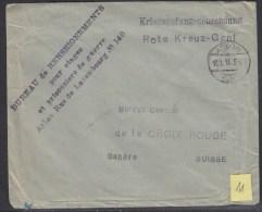 POW 1. Weltkrieg An Das Rotes Kreuz In Genf  Ag.des Prisonniers De Guerre - Belgique