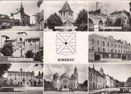 Cp , 24 , RIBÉRAC , Multi-Vues - Riberac