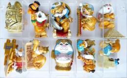 FIGURINES EGYPTOCHATS SERIE KINDER COMPLETE - 1998 - Asterix & Obelix