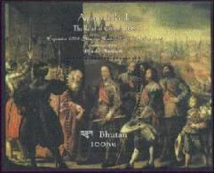 MNH BHUTAN #1332 : SOUVENIR SHEET ART PAINTINGS PRADO MUSEUM ANTONIO DE PEREDA THE RELIEF OF GENOA 1634 - Bhutan