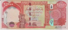Iraq p.new 25000 dinars 2014  unc