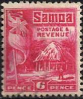 SAMOA 6 PENCE RED HUT 1921 USEDLH NICE & FRESH SG? READ DESCRIPTION !! - Samoa