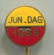 JUN. DAG 1966.- Netherlands Holland, vintage pin  badge, enamel