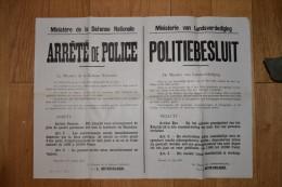 Arr�t� de police bilingue de 1945 interdisant tout attroupement dans le cadre de l'affaire royale (Leopold III)