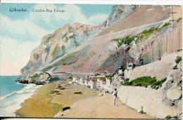GIBRALTAR RARISSIME POSTCARD CATALAN BAY VILLAGE COLOR DETAILS EDIT.MALIN & Co. UNIQUE IN THE SITE NON CIRCULEE GECKO - Gibraltar