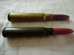 Deux cartouches inertes ou de manipulation 7.92 mauser allemande WWII ogive bois et papier