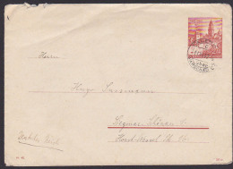 Generalgouvernement FALENIC über Warschau Ganzsache U2/02 Vom 11.VI. 42 Nach Siegmar-Schönau - Besetzungen 1938-45