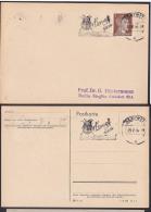 "DR Propaganda MWSt. Gleiwitz ""Kampf Dem Kartoffelkäfer"" Potato Beetle, 1944 Auf Vorlagekarte - Covers & Documents"