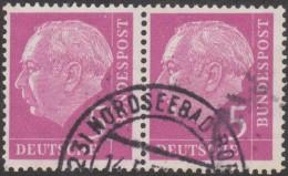 Allemagne 1954 Michel 179 Theodor Heuss, Paire Horizontale 5 Pf - [7] République Fédérale