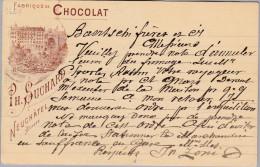 MOTIV SCHOKOLADE 1899-02-24 SION Privatganzsache Ph. Suchard Neuchatel - Alimentation