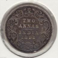@Y@  INDIA  2 Annas   1891 B     (2797) - India