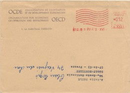 PARIS - 1965 , OCDE / OECD (Organisation For Economic Co-Operation And Development) -  Dispatch:  Big Letter - Poststempel (Briefe)