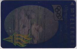 Denmark, TP 033, Hologram, Olympics Lillehammer 1994, Swimming, Mint, Only 6000 Issued, Sport. - Dänemark