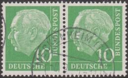 Allemagne 1954 Michel 183  Theodor Heuss, Paire Horizontale 10 Pf - [7] République Fédérale