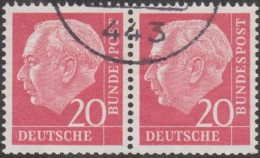 Allemagne 1954 Michel 185  Theodor Heuss, Paire Horizontale 20 Pf - [7] République Fédérale
