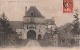 DOURDAIN  - Cpa N&B - Ayant Voyagée - Chateau Du Plessis - YM - France