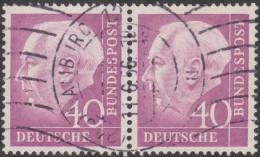 Allemagne 1954 Michel 188  Theodor Heuss, Paire Horizontale 40 Pf. Michel 250 €