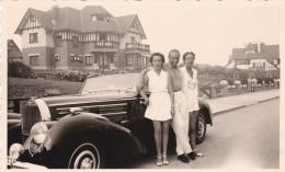 PHOTO-ORIGINAL-D'EPOQUE-AUTO-BUGATTI-CABRIO-KNOKKE-1939-TOP-COLLECTION-FAMILLE BERNARD-GERPINNES-BELGIQUE-DIM.:7 A 11CM