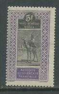 Haut-Sénégal N° 34 X  5 F. Violet Et Noir Trace De Charnière Sinon TB