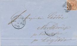 KJOBENHAVN - 1861 , Nummernstempel 1 - 1851-63 (Frederik VII)