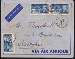 A.E.F. - N° 45 Et Paire Du N° 50 Oblitérés Fort Lamy Sur Lettre - 1938 - Brieven En Documenten