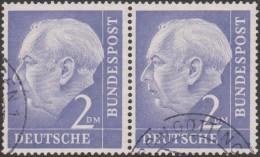Allemagne 1954 Michel 195 Theodor Heuss, Paire Horizontale 2 DM