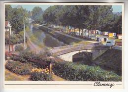 CLAMECY 58 - CAMPING CARAVANING - Le Terrain De Camping Et Pont Bicot - CPSM CPM GF - Nièvre - Clamecy