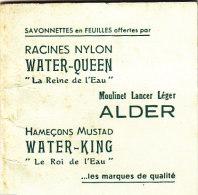 CALENDRIER ... 1955 ... SAVONNETTES EN FEUILLES OFFERTES PAR RACINES NYLON WATER QUEEN .. ALDER - Calendriers