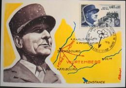 CARTE  MAXIMUM  ANNEE 1970 - Maréchal De Lattre De Tassigny - La Colle -sur-Loup Le 02.06.1970 - Maximum Cards