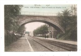 Fin-D'Oise-Gare Et Entrée Du Viaduc--carte Colorisée -(A.5073) - Unclassified