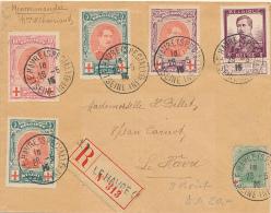 LE HAVRE - 1915 , Kompletter Satz + RK , 3 Briefe - Belgien