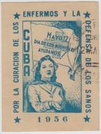 VI-20. CUBA. VIÑETA. 1956. DIA DE LOS HOSPITALES. ENFERMERA. NURSE. USADO - Otros